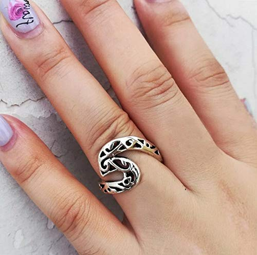 - Campton Hollow Silver Plated Simple Dainty Wave Ring Beach Sea Surfer Island Jewelry New | Model RNG - 11967 | 6