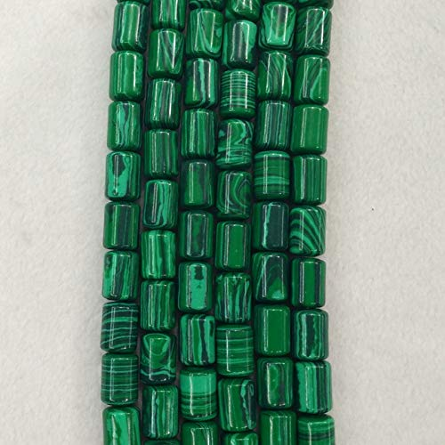 Calvas 2016 Fashion Good Quality Malachite Stone Cylinder Tube Charms Beads 10x14mm for Jewelry Making Wholesale 50pcs/lot Free