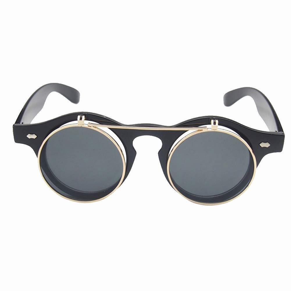 Wakerda Retro Sonnenbrillen Sonnenbrille mit runden Rahmen Reisen Freizeit Polarisierte Sonnenbrille Outdoor-Sonnenbrillen Unisex #1