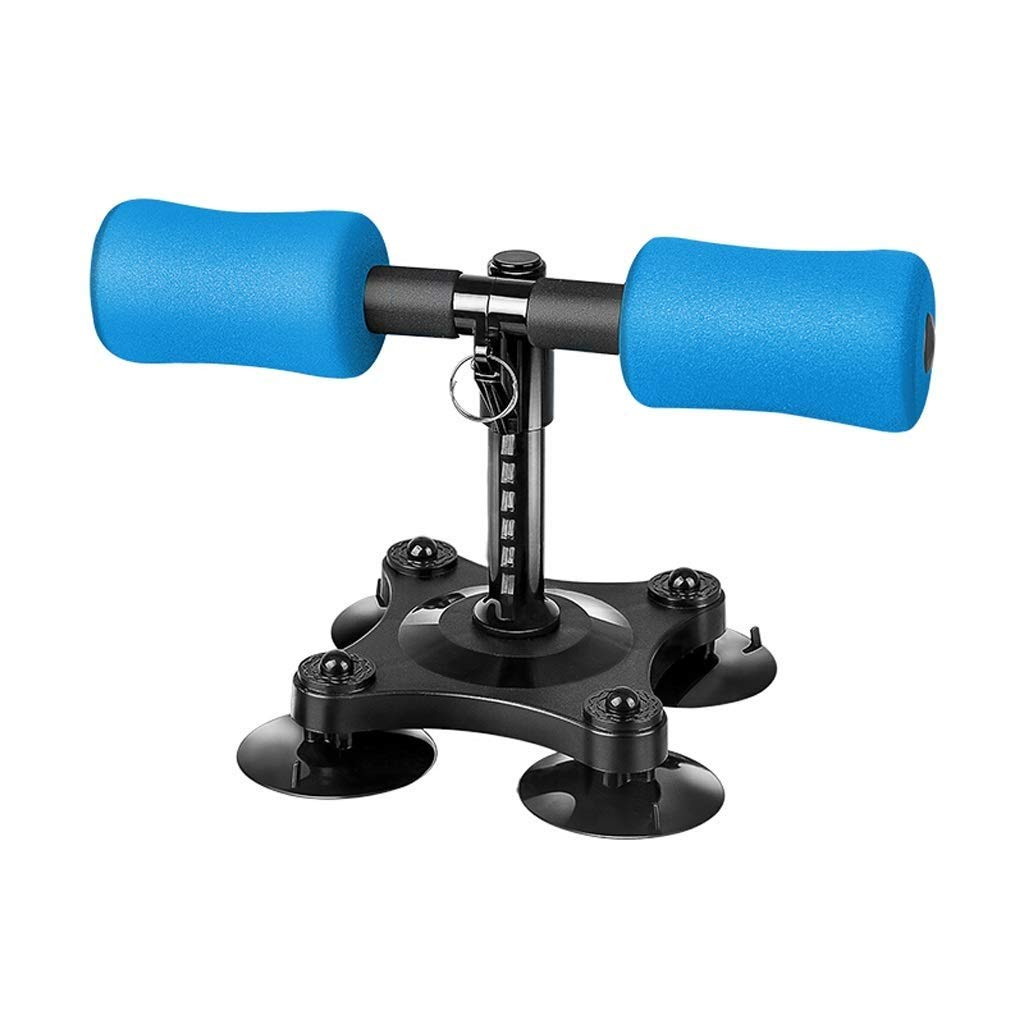 Fitness Equipment Sit-up Aid Sit-ups Assistive Abdominal Muscles Home (Color : Blue)