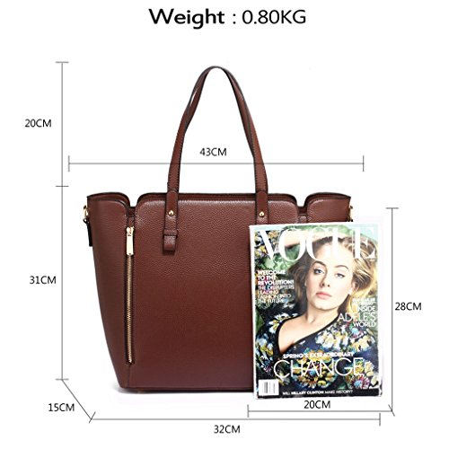Handbags Women's Nice COFFEE TOTE Shoulder Tote 502 ZIPPIER Great LeahWard 314A Zipper Bags 314 wgRdEHwxPq