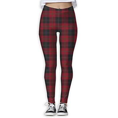 b8ec009d7033f Black Red Tartan Women's Compression Pants Sports Leggings Tights Baselayer  Trousers For Yoga&Fitness