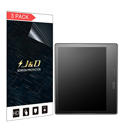 J&D Compatible for 3-Pack All-New Kindle Oasis 2017 Screen Protector, [Anti-Glare] [Not Full Coverage] Matte Film Shield Screen Protector for All-New Kindle Oasis E-Reader 2017 Matte Screen Protector