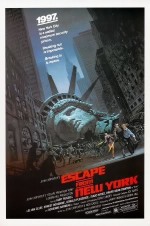 Escape From New York Poster.Escape From New York Kurt Russell Us Movie Film Wall Poster