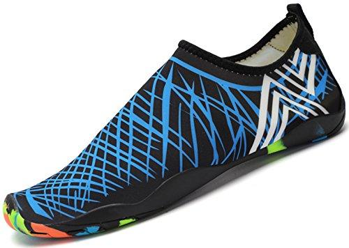 Blau Schwimmschuhe Unisex Damen Für Aquaschuhe Leicht Wasserschuhe Rutschfest Schuhe Weiche Saguaro Atmungsaktiv Badeschuhe Herren qB4w4aO