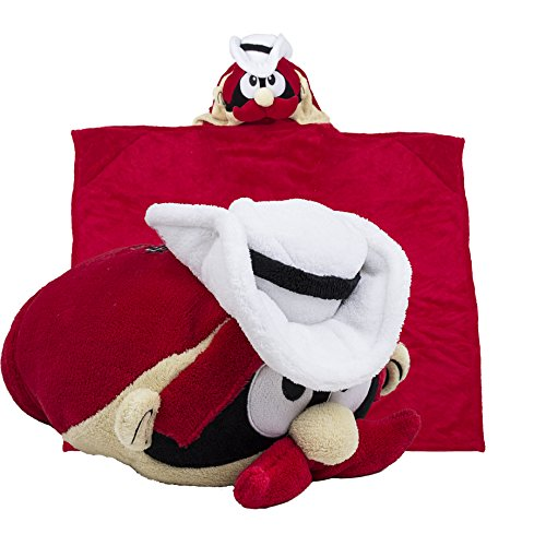 Comfy Critters Stuffed Animal Blanket – College Mascot, Texas Tech University 'Raider Red' – Kids Huggable Pillow and Blanket Perfect for The Big Game, Tailgating, Pretend Play, Travel, and Much More -