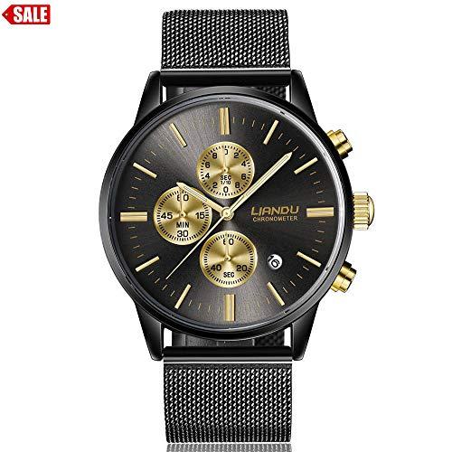 Alalaso Lovers' Quartz Wrist Watch, LIANDU Fashion Women Men Simple Stainless Steel Analog Luxury -