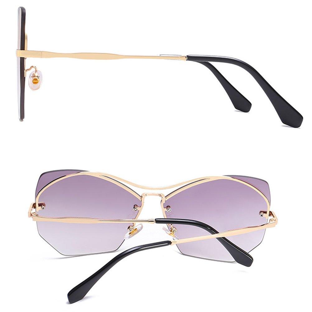Zhhlinyuan Vintage Style Unisex Metal Frame lunettes de soleil Sunglasses Ocean Slice Eyewear Perfect Gifts Qualité for Women Men Étui à lunettes aKElBSx