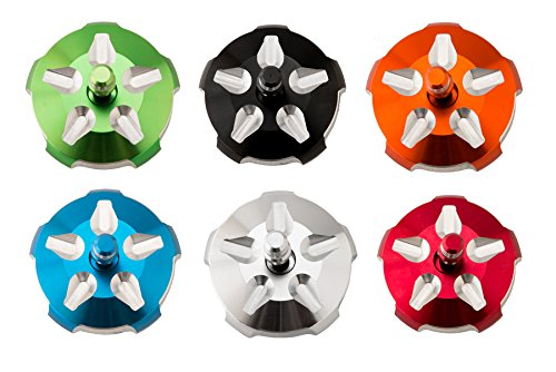 Suzuki LTR 450 (2006-2009) Billet Gas Cap Revolver style 6 color options (Red) by Alba Racing (Image #2)