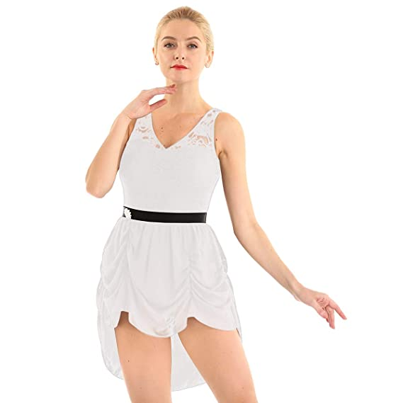 Alvivi Vestido de Danza Contemporanea Mujer Cuello V Maillots ...