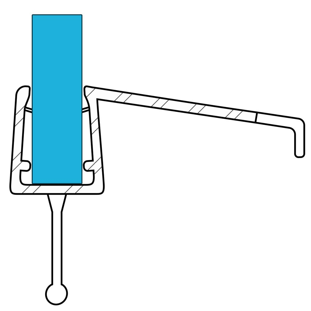 VARIOSAN Shower Seal 10858, 100 cm, for 6-8 mm Glass Thickness, S3, Transparent
