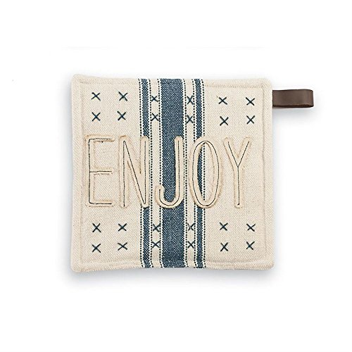 Mud Pie 4264563E Grain Sack Pot Holder, (Mud Pot)