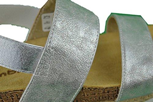 INBLU NK-02 scalzati ciabatte con zeppa alta argento