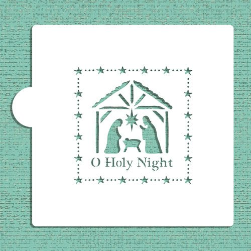 O Holy Night Nativity Scene Cookie and Craft Stencil CM034 by Designer Stencils (Craft International Stencil)