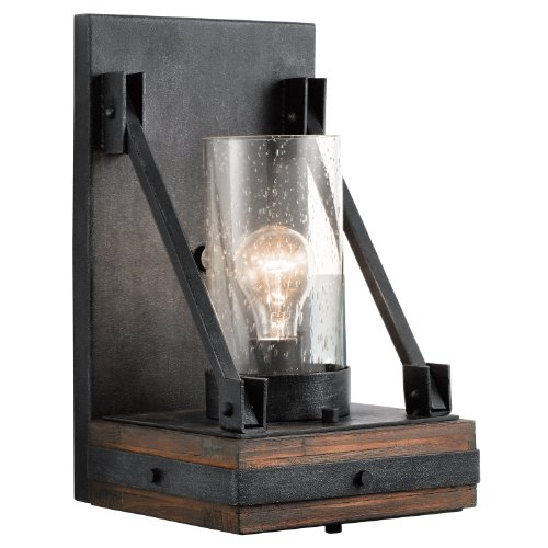 Kichler 43436AUB Colerne Wall Sconce 1-Light, Auburn Stained Finish (Kichler Glass Floor Lamp)