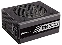 CORSAIR RM750x series power supplies are built with the highest quality components to deliver 80 PLUS Gold efficient power to your PC. Using only Japanese 105 DegreeC capacitors, users can depend on an RM750x PSUs' long life and reliability, ...