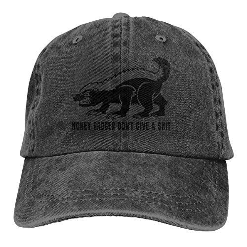 Unisex Clean Up Adjustable Hat, Adult Adjustable Hat I Takes What I Wants - Honey Badger Cotton Baseball Cap Dad-Hat Black