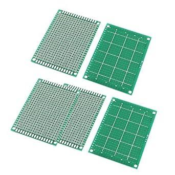 5 piezas DE 2, 54 mm Agujero de tono Un lado de la lata Junta PCB Plateado 5 cm x 7 cm: Amazon.com: Industrial & Scientific