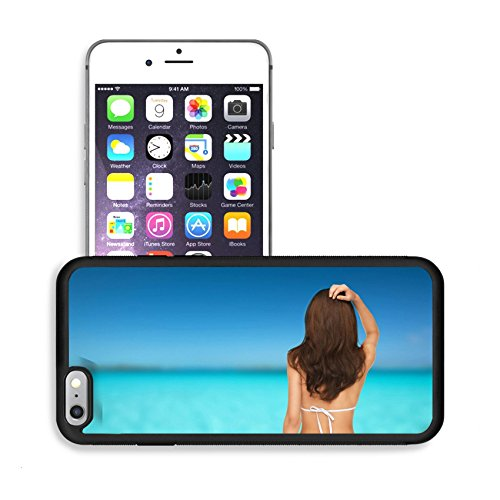 Luxlady Premium Apple iPhone 6 Plus iPhone 6S Plus Aluminum Backplate Bumper Snap Case IMAGE 25625841 summer holidays and vacation concept beautiful woman posing in white bikini