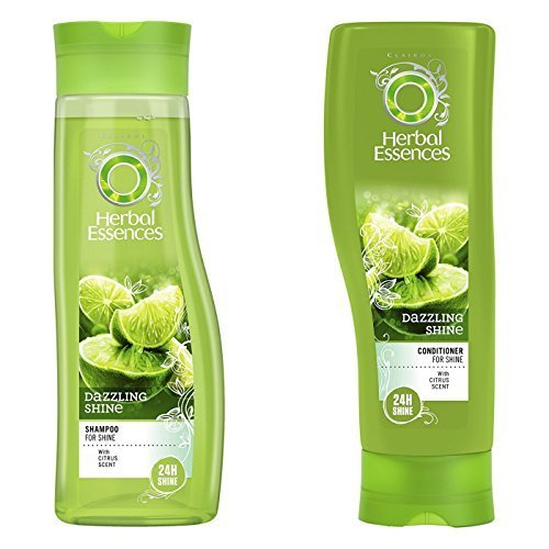 Herbal Essences Dazzling Shine Set Shampoo Conditioner With Citrus Scent Bundle With Exclusive Beauty Tips Buy Online In Turkey At Turkey Desertcart Com Productid 50799303