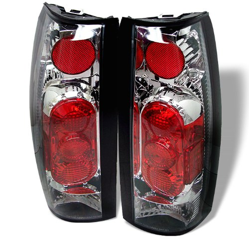 Xcdiscount Euro Style Tail Light for Chevy C K 1500 2500 3500 88-98 – Chrome Clear