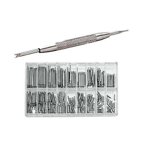 Baban 6--23mm 360Pcs Watch Band Spring Bars Metal Strap Link Pins Remover Repair Tool