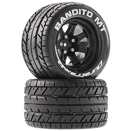 Duratrax Bandito MT 2.8 Mounted Tires,Black 14mm Hex (2), DTXC5250