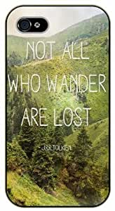 iPhone 5C Keep Calm Not all who wander are lost - black plastic case / Keep Calm, Motivation and Inspiration