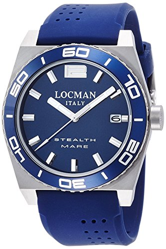 LOCMAN watch stealth Mare Quartz rotating bezel Men's 0211 021100BA-BLASIB Men's [regular imported goods]