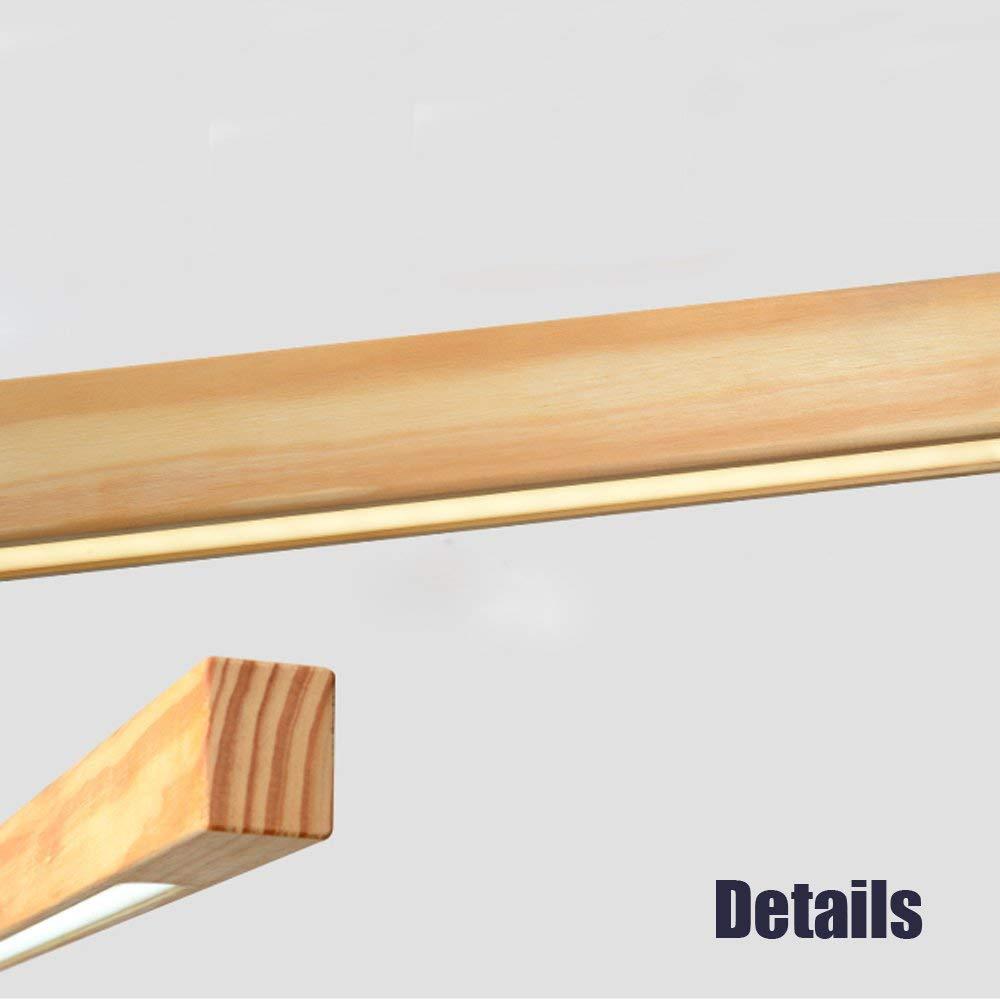 GBLY LED Esstisch Pendelleuchte Dimmar Pendellampe moderne Hängeleuchte 20W 20W 20W Hängelampe Holz Bürolampe Höheverstellbar für Esszimmer Wohnzimmer Büro 6e7017