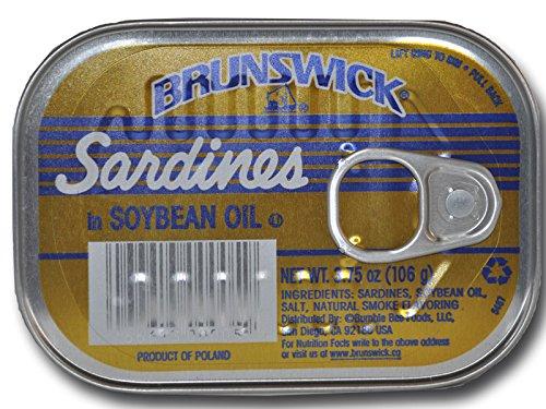 Brunswick Sardines (Brunswick Sardines in Soybean Oil 106 g x 6, Pack of 6)