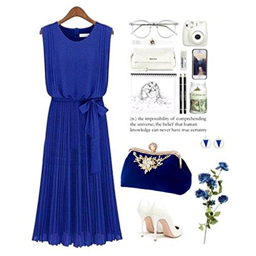 catena Blue Prom di donne in pelle diamante JAGENIE sera nozze borsa di Blue festa lusso frizione borsa HwvY7