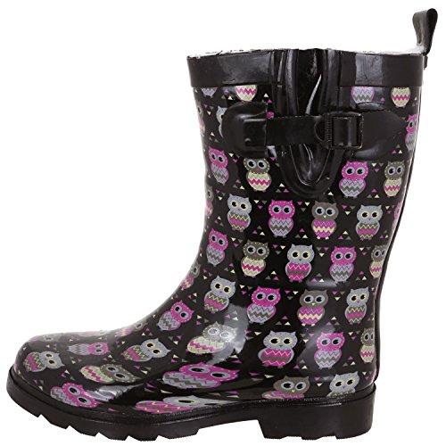 Rain Black Mid York Calf Boots Collegiate New Ladies Printed Grey Plaid Capelli 8AHZqwqg