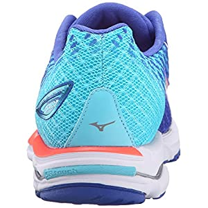 Mizuno Women's Wave Rider 19 Running Shoe, Dazzling Blue/White, 6.5 B US