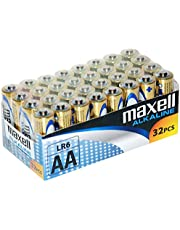Maxell LR6 - Batterie Alcaline AA, Pacco da 32