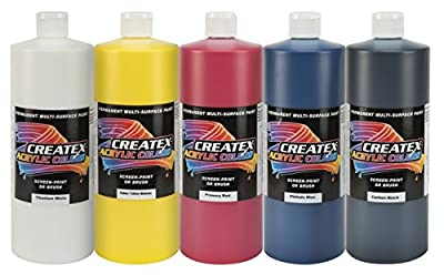 Createx Colors 2039-32 Acrylic Primary Set (5 Colors), 32 oz