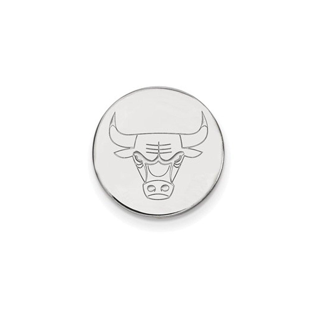 NBA Chicago Bulls Lapel Pin in 14K White Gold