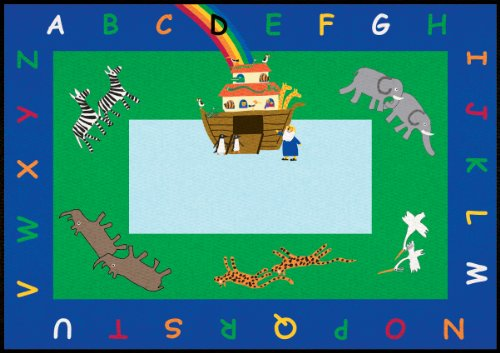 Alphabet Noah Rug - Learning Carpets CPR444 - Noah's Ark Rectangle, Small