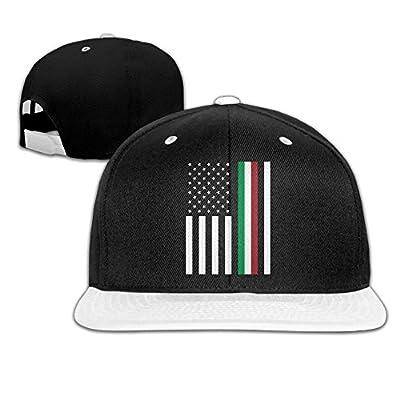 Xngtax Italy Flag Stars Baseball Caps Unisex Solid Flat Bill Hip Hop Adjustable Snapback Hats Sunhat