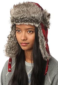 Urban Outfitters Wool & Faux Fur Buffalo Plaid Winter Trapper Aviator Hat