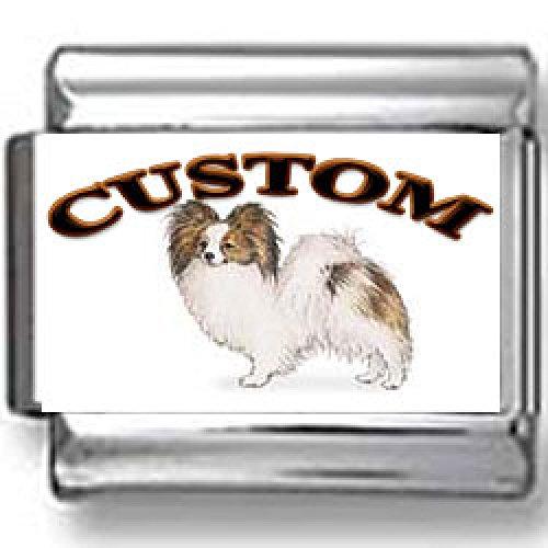 Papillon Dog Custom Photo Italian Charm (Papillon Charm)