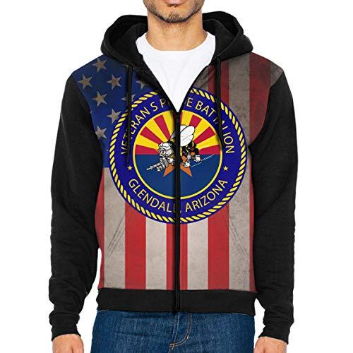 (Arizona Veterans Pride Battalion Full Zip Sweatshirt Drawstring Hoodies with Pockets)