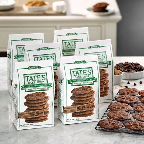 Tate's Bake Shop 6 Pack Gluten Free Double Chocolate Chip Cookies by Tate's Bake Shop