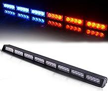 "TURBOSII 32 LED 34"" Traffic Advisor Emergency Warning Directional Light Bar Kit Vehicle Strobe Flash Mini Interior LED Dash Light Bar,RED+BLUE"