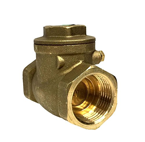 Libra Supply 1/2 inch Lead Free Brass Swing Threaded Check Valve, (Click in for more size options), 1/2-inch, 1/2'' Swing Check Valve, IPS Tread, 200 WOG Residential and Commerical