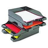 2 Trays Printer - Deflecto Docutray Multi-Directional Stacking Tray, Black, Set of 2 Trays, Holds Letter, Legal and A4 Size, 10