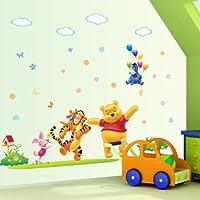 Gadfly- Flying Donkey y Winnie the Pooh Peel & Stick Nursery /etiqueta de la pared del bebé calcomanía