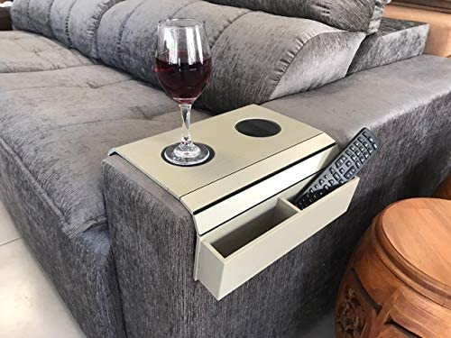 Remote Control and Cellphone Organizer Holder Sofa Arm Tray Table Arm Rest