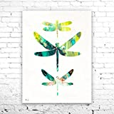 Dragonfly Watercolor Print, Fine Art Print,Children's Wall Art,animal watercolor, watercolor painting, animal art, Dragonfly art, Insect art