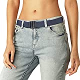 No Show Elasticated Stretch Women Jeans Belt Fit 20''-38'' Plastic Buckle Blue Belt